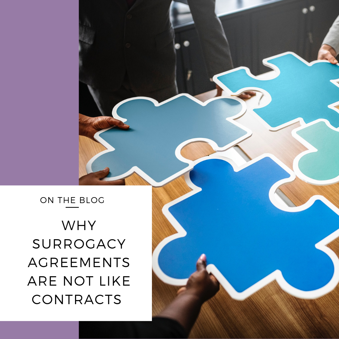 why surrogacy agreements are not like contracts
