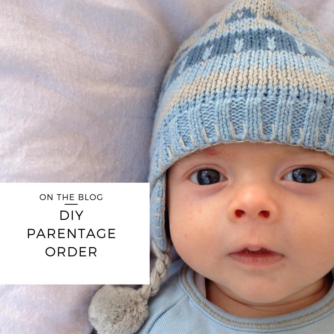 diy parentage order