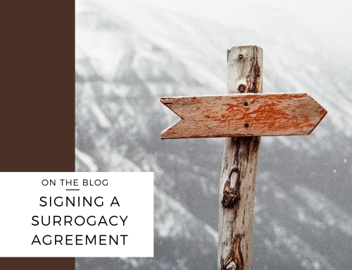 Signing a Surrogacy Agreement