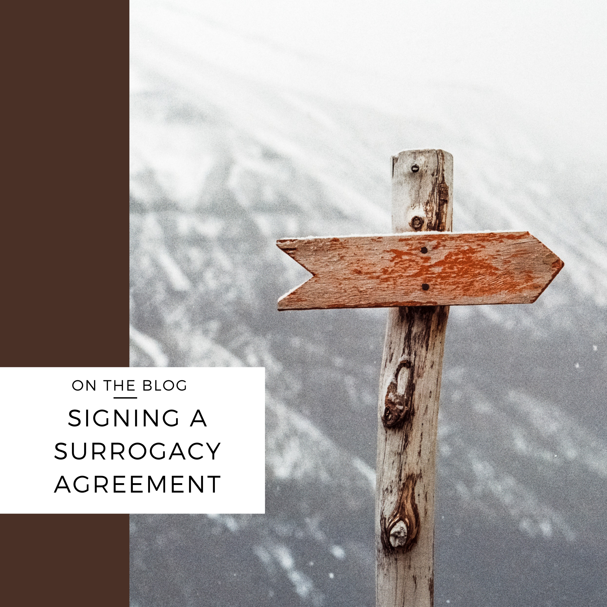signing surrogacy agreement