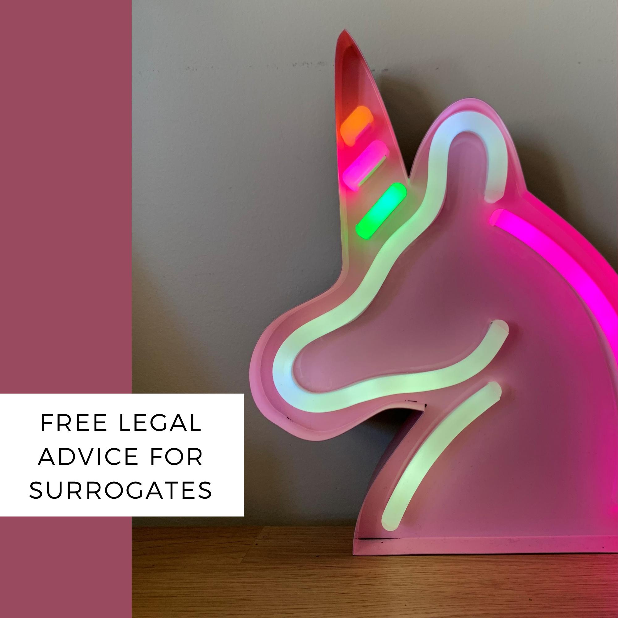 free legal advice for surrogates