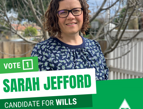 Sarah Jefford – Greens Candidate for Wills